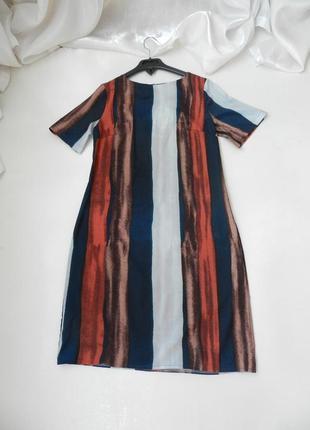 Платье в полоску из легусенького эко шёлка