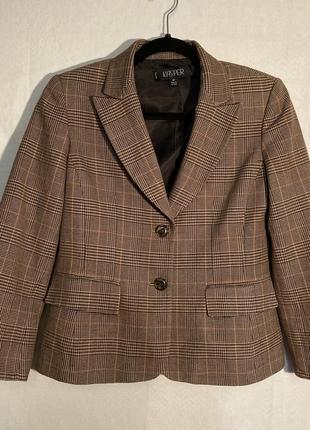 Пиджак винтажный клетчатый