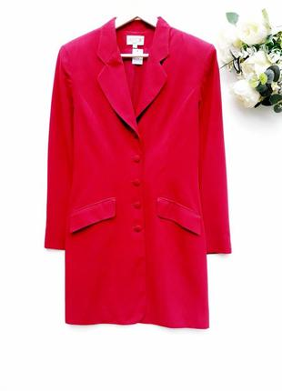 Длинный пиджак жакет платье на пуговицах удлиненный жакет