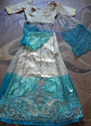 Детское сари. 11-13 лет. индийский восточный карнавальный костюм.