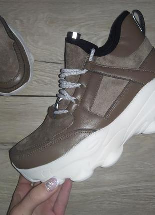 Высокие кроссовки платформа ботинки деми сникерсы