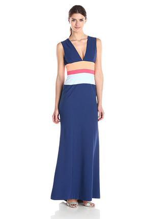 Платье макси синее bcbg max azria оригинал шлейф
