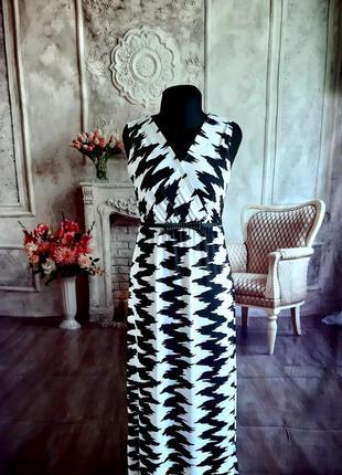 Стильное платье сарафан макси