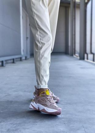 Шикарные женские кроссовки nike m2k tekno beige