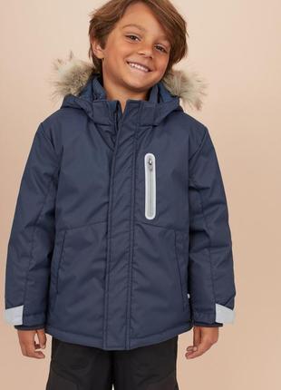 Новая   термо куртка, парка h&m  еврозим, зима 128, 134, 140