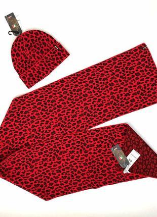 Шапка-бини и шарф, набор женский levi's левис оригинал