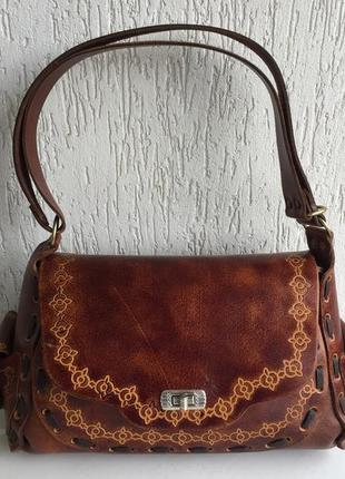 Кожаная сумка handmade испания