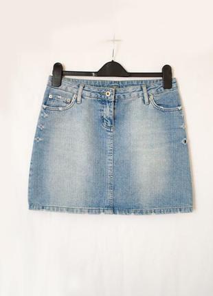 Юбка джинсовая мини-юбка трапеция
