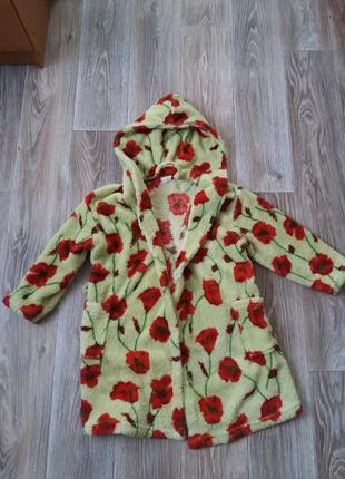 Очень теплый халат для девочки