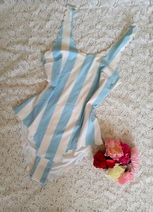 Слельный полосатый, голубой купальник h&m.