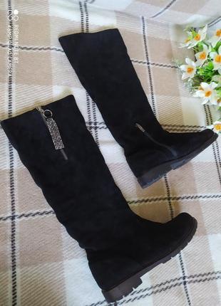 Осінні замшеві чобітки