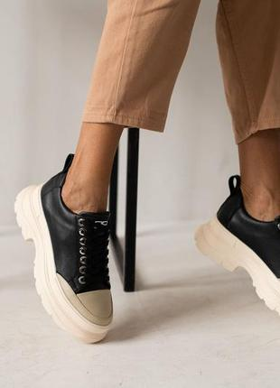 Трендовые кожаные кроссовки с 36-41