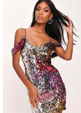 Love&other things. товар с англии. блестящее платье с пайетками перевертышами