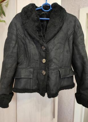 Дубленка укороченная кужух куртка