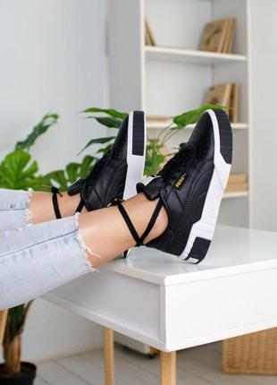 Шикарные женские кроссовки puma cali black пума кали черные