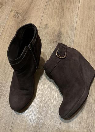 Ботильены туфли на платформе geox