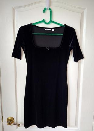 Маленькое черное платье с квадратным вырезом #ozone