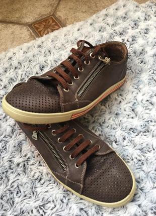 Туфли спортивные, натуральная кожа