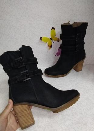 Кожаные зимние ботинки ecco (эко) 41р.