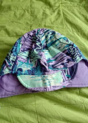 Демисезоная шапка на завязках