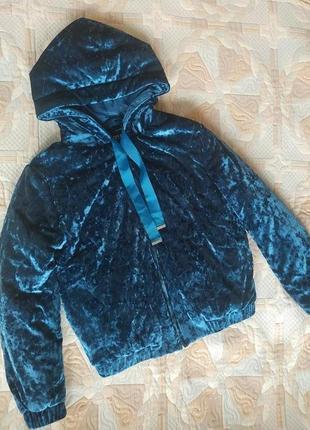 Куртка бархатная велюровая р.с-м