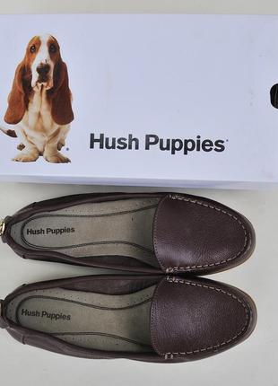 Мокасины hush puppies из натуральной кожи на полиуретановой подошве/размер 9.5m (сша)