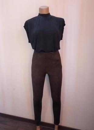 Zara basic, женские штаны под кожу, леггинсы, лосины