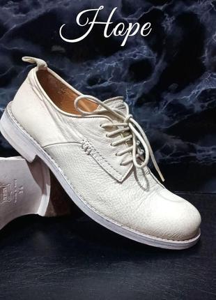 Крутейшие кожаные туфли оксфорды hope