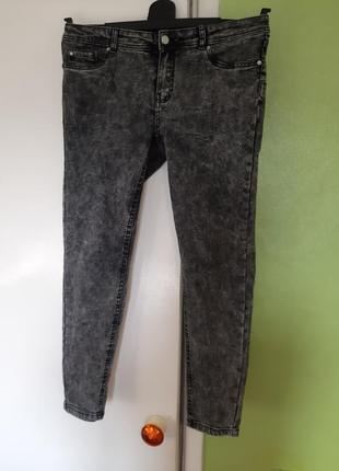 Женские джинсы скинни skinny варенки серые 14 размер 48 50 размер батал