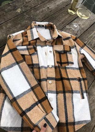 Теплая рубашка как в zara