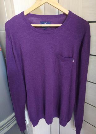 Джемпер, пуловер lexington, шерсть мериноса и коттон.