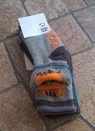 Носочки  махровые для мальчиков c&a германия, упаковка 3 шт