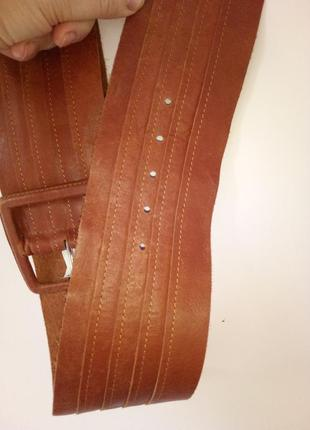 Натуральный кожаный пояс ремень