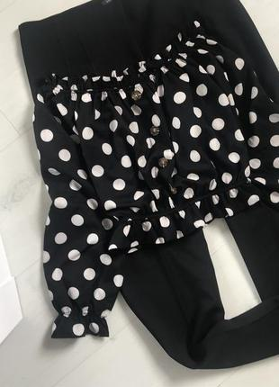 Блуза в горохи