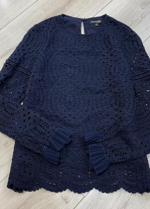 Ажурная оригинальная блузка massimo dutti