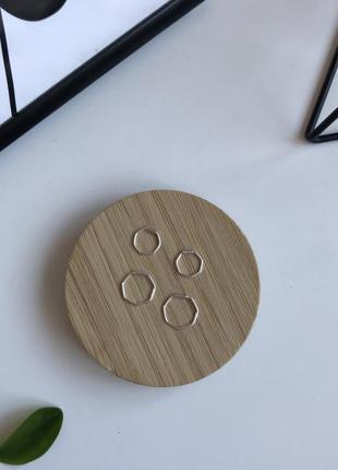 Стильні срібні сережки набір з 2 пар, серьги кольца 🌿з сайту asos