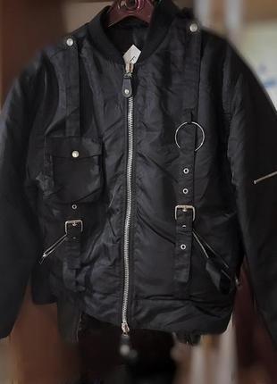 Оверсайз куртка, трендовый бомбер, холодная осень/тёплая зима