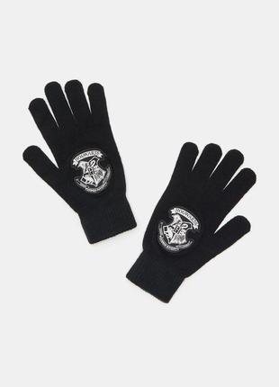 Новые черные перчатки гарри поттер хогвартс нашивка harry potter hogwarts польша