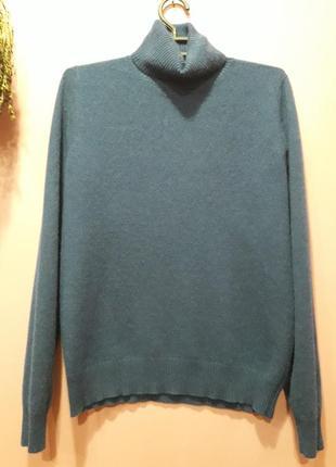 Кашемировый свитер синего цвета