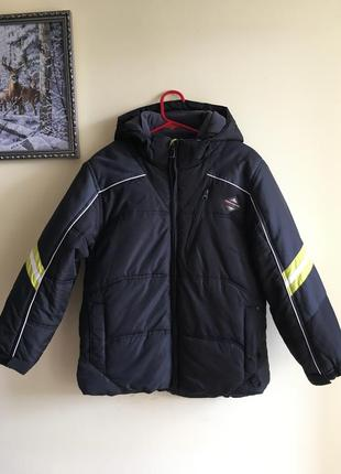 Тёплая синтепоновая, красивая куртка на мальчика 11-12 лет, performance gear