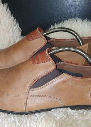 Rieker туфлі мокасіни шкіра