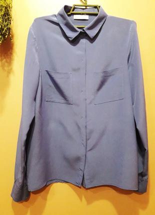Шелковая рубашка фиолетового цвета