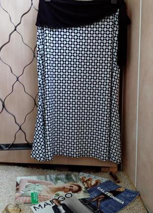 Carole little aсимметричная юбка миди с бантом в цветочный принт м