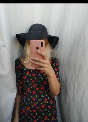 Шляпа с ьольшими полями черная шляпа 100 шерсь шляпа зима/осень