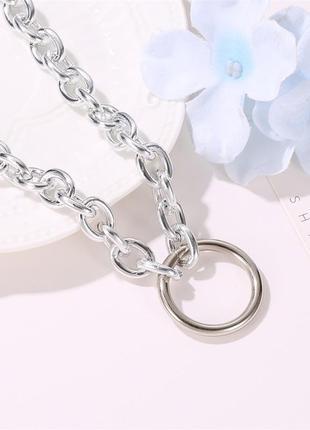 Колье цепь с кольцом