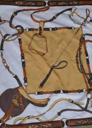 Платок на шею шарф шаль жокей с принтом
