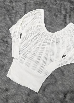 Блуза кофточка покроя летучая мышь фактурной вязки jane norman