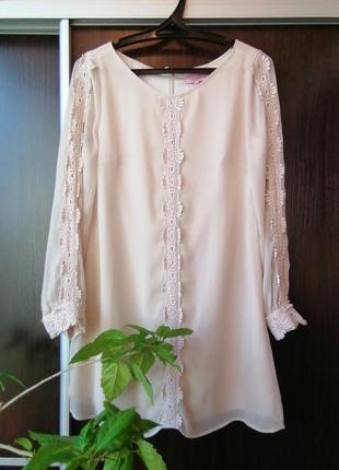 Шикарное нежное платье сукня гипюр(хлопок).darling