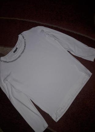 Белая кофточка блузка