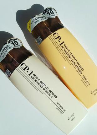 Шампунь + кондиционер для волос esthetic house cp-1 bright complex intense nourishing set